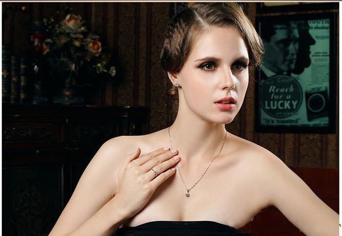 Lyxvarumärke 100% äkta 925 sterlingsilver smycken uppsättningar - Märkessmycken - Foto 6