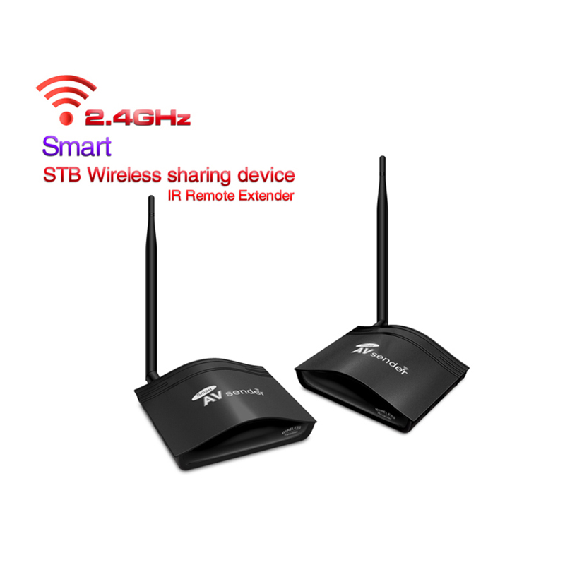 2.4GHz 350m Video Transmitter RCA Wireless Receiver Long Range AV Sender with IR Remote Control PAT-266 Plug and Play
