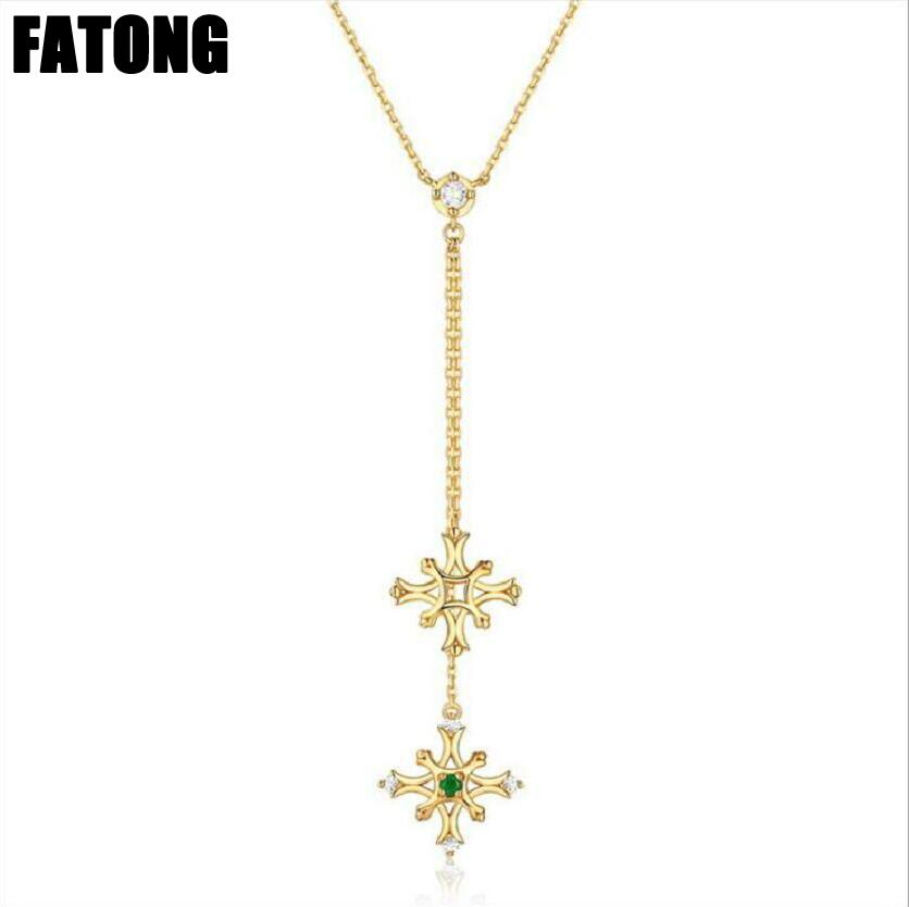 925 sterling silver Japan and South Korea light luxury flying snowflake natural emerald zircon necklace female. J0326925 sterling silver Japan and South Korea light luxury flying snowflake natural emerald zircon necklace female. J0326