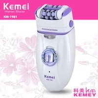 Kemei 3 in 1 Electric Epilator For Women Electronic Foot File Female Rechargeable Plucking Machine Depilatory Hair Removal