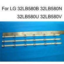 真新しいledバックライトストリップlg 32LB580U 32LB580B 32LB580N 32LB580Vテレビ修理ledバックライトストリップバーabタイプ6ランプ
