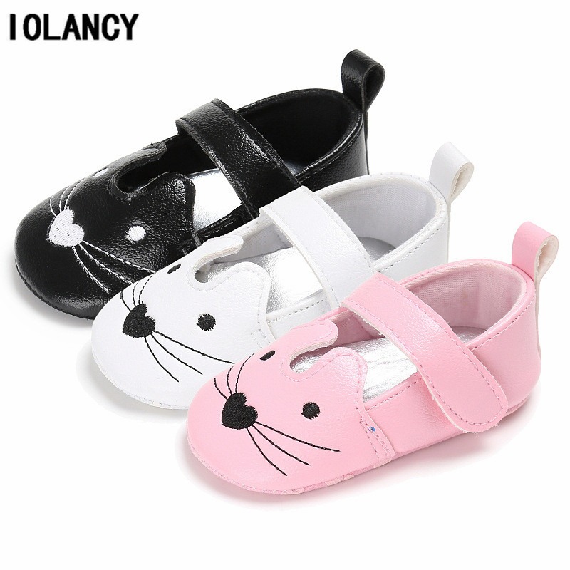 Baby Shoes Mouse Head Soft Cotton Soled Hook & Loop Baby Moccasins Infant Toddler First Walkers Shoes for Girls BS060