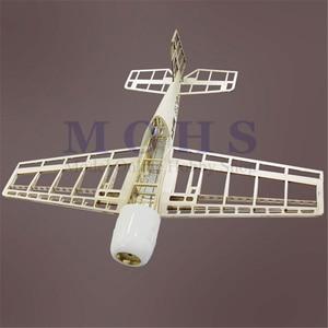 Image 3 - Самолёт с дистанционным управлением яка 54, деревянный самолёт, 3D наборы, шасси, капот, навесные петли, Синий принт, комбинированный радиоуправляемый самолет, набор YAK54