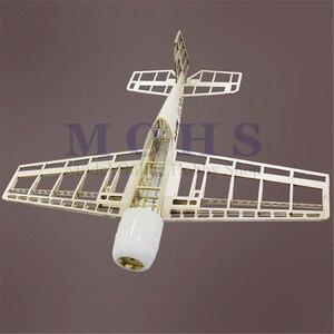 Image 3 - RC מטוסים BF109 עץ מטוס ערכות נחיתה ברדס חופה צירים כחול הדפסת קומבו RC בקנה מידה מטוס BF 109 ערכות קומבו