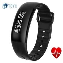 Teyo умный Браслет A69 сердечного ритма Мониторы Приборы для измерения артериального давления Фитнес трекер Шагомер Pulsera inteligente запястье Android IOS