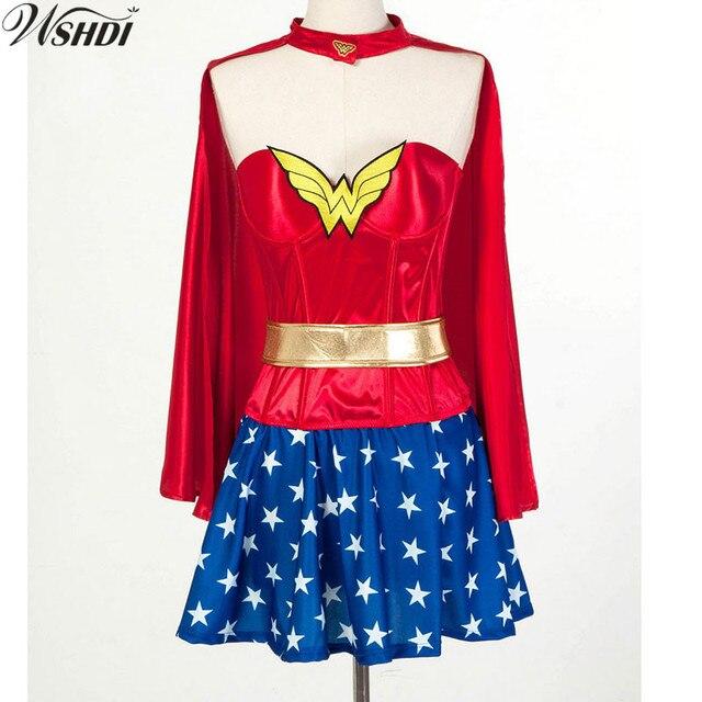 S Xxxl Sexy Women Supergirl Halloween Cosplay Costume -1906