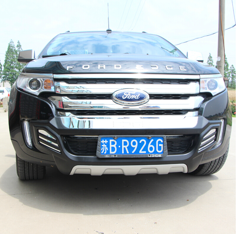 fit for ford edge 2012 2013 2014 front rear bumper diffuser bumpers lip protector guard skid plate abs chrome finish 2pes in bumpers from automobiles