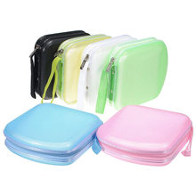 Color caramelo coche Auto 40 Uds CD DVD Disk Card Visor estuche protector Clipper organizador bolsa 7 colores CDs dentro funda de transporte almacenamiento(China)