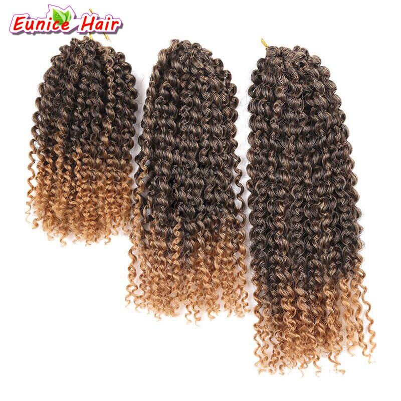 8-12inch 3pcs/pack Mali bob Ombre Burgundy T30/27/Bug Marly braid Synthetic Braiding hair Malibob Crochet Hair extensions
