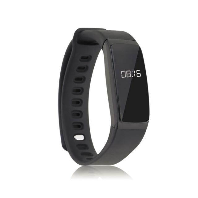 Top Quality V07 Fashion Design 0.87 Inch OLED Display Sleep Monitoring Blood Pressure Monitor Bluetooth 4.0 Smart Bracelet Black