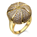 2017 New Designer Fashion Design High quality Pave setting CZ Crystals Element Flower Ball Luxury Rings Women Finger Ring