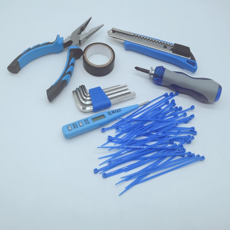 Купить с кэшбэком 11Pcs Hand tool Set  Home Tool Kits Hand Tools,general householder hand tool set (  Pliers  Screwdrivers Wrenches Tapes)