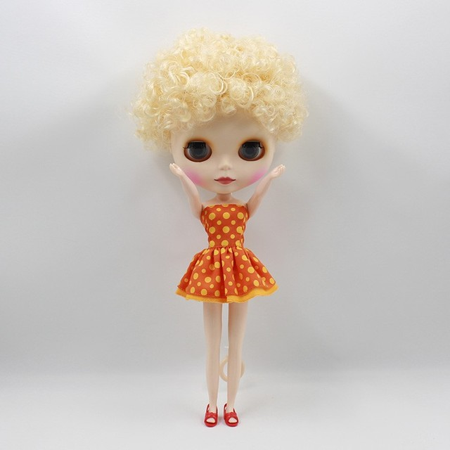 Free shipping cost Nude Blyth dolls Fashion Short Curly