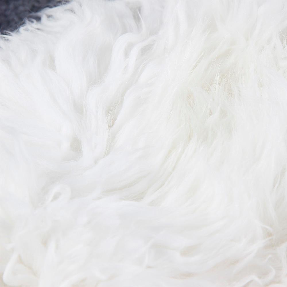 Chaqueta de Invierno para mujer abrigo largo cálido de plata Parkas Mongolia piel de oveja pato abajo abrigo Parka-in Plumíferos from Ropa de mujer    3