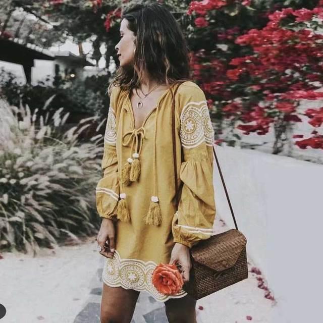 Платье в бохо стиле | Aliexpress