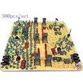 O envio gratuito de 80 s após a segunda guerra mundial soldado que nostálgico de plástico brinquedos crianças Kit modelo militar modelo Kit enviou 300 pçs/set