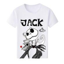 Las mujeres de los hombres camiseta impresa Jack Skellington novedad corto  camisetas camisa verano camiseta Casual 08e6751e09fb5