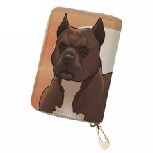 NOISYDESIGNS PU Leather Credit Card Holder Pitbull Lover Print ID for Ladies Women Business Cases