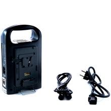DHL livre Rolux RL-2KS Dual channel V monte V-bloqueio BP bateria da câmera carregador de bateria carregador de energia