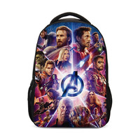 2019 Avengers Marvel Iron Man Spider Man Design Children Backpack For Primary School Back Packs Girls Schoolbag For Girls Boys