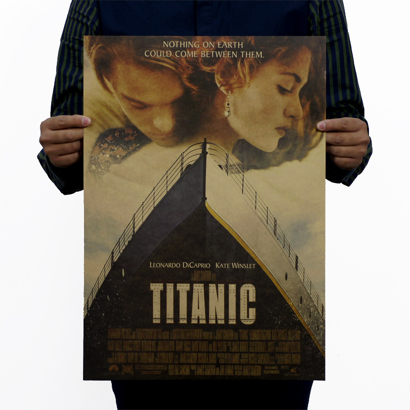 51*35.5cm Titanic Movie Poster Retro Kraft Paper Wall Sticker Cafe Bar Bedroom Vintage Decoration Mural Home Art Decor Wallpaper