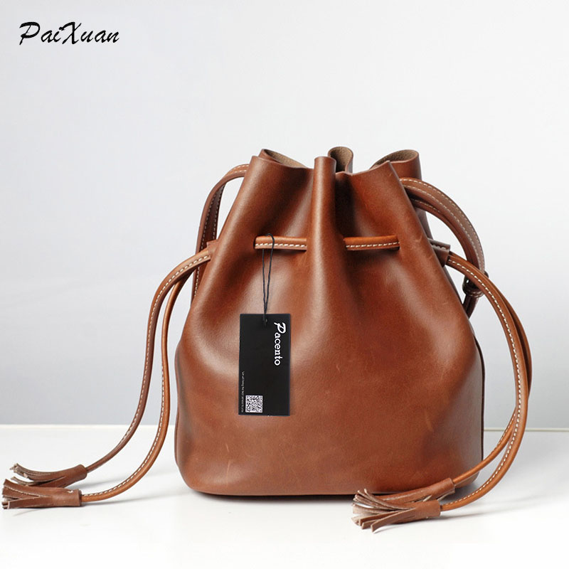 100% genuine leather designer luxury women handbags famous brand 2017 female bucket bag tassel sac a main femme de marque bolsas 11 11 2016 exclusive limited hot brand women tote bag female designer handbags high quality sac a main femme de marque celebre