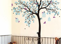 L42 Bird Cage Big large Tree Nursery DIY Wall Stickers Waterproof eco friendly Removable Vinyl Decal for Kids Baby room