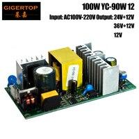 YC 90W 12 100W Mini 10W Led Moving Head Light Power Supply Aluminum Heat Dissipation 12V/24V Output Mini Size Made in China