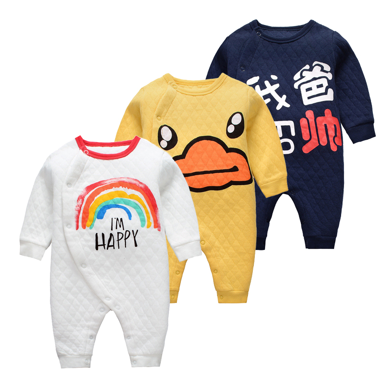 Newborn Baby   Rompers   Full Sleeve Winter Underwear Jumpsuit Infant Halloween Costume Baby Boys Clothes Girls Nightgown Roupa
