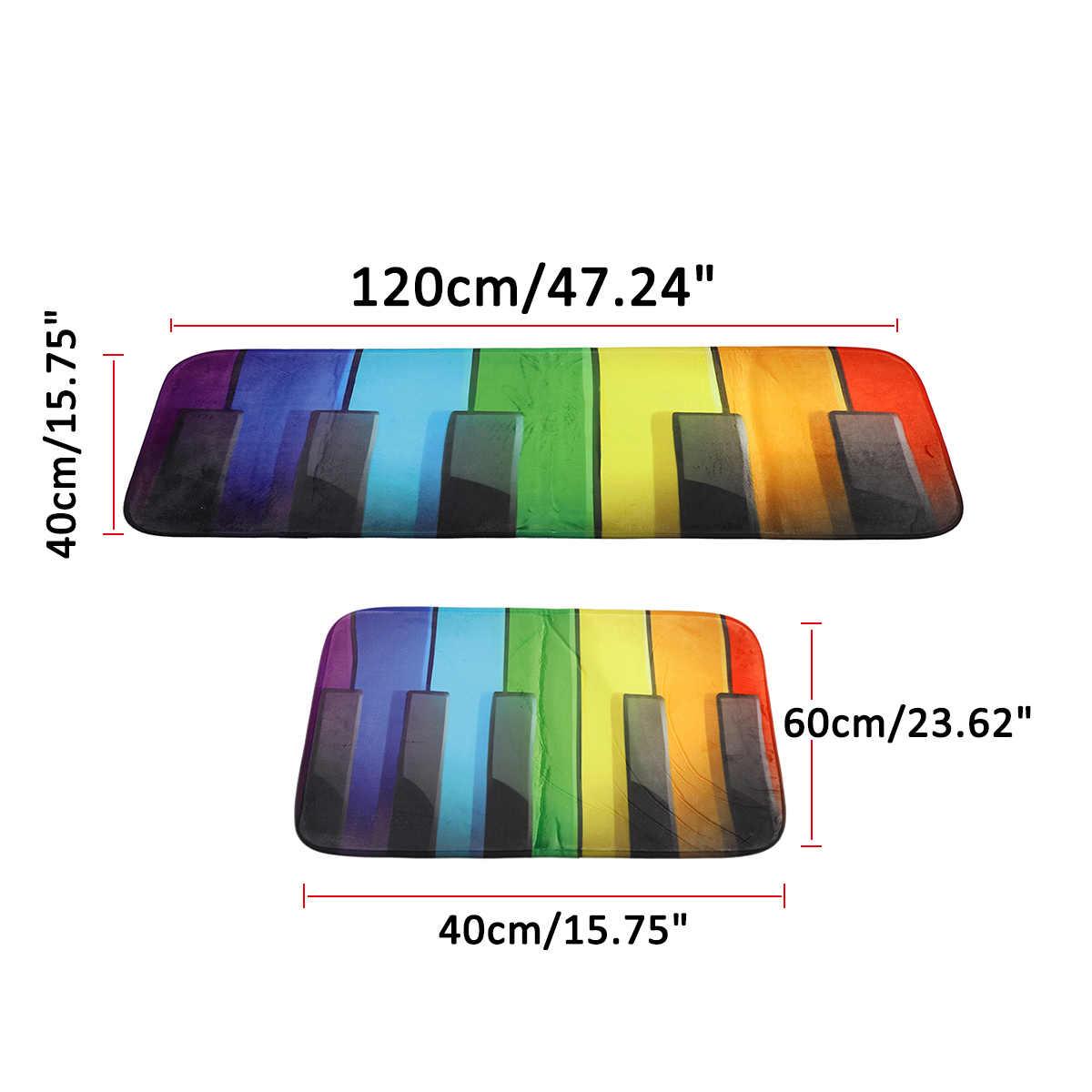 3D Печатный нескользящий красочный деревянный узор фортепиано ключи дверь пол коврик для кухонь, ванных коврики под входную дверь домашний декоративный Придверный коврик