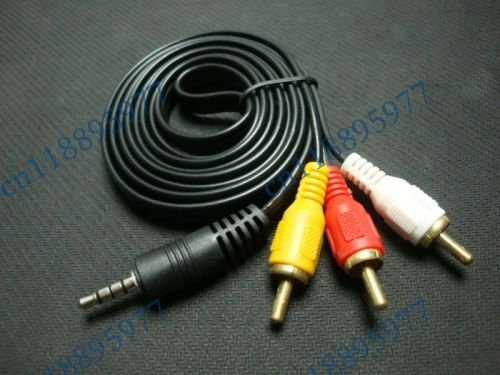 3.5mm AV to 3 RCA Audio/Video Camera CANON Cord Connect Samsung to ...