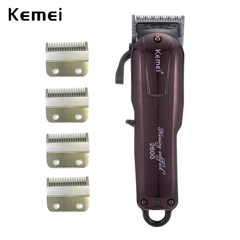 110 v-240 v Kemei tondeuse professionnelle tondeuse coupe de cheveux rechargeable hommes rasoir électrique coupe de cheveux de coiffure machine barbe homme
