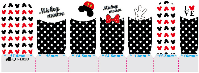 Schöne Nail Art Aufkleber Mickey Minnie Print Nail Tips Full Cover - Nagel Kunst - Foto 4