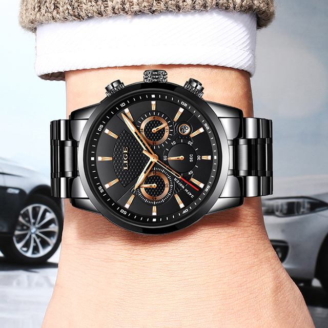 Mens watches To Luxury Brand business Quartz Watch Men Military Sports Waterproof Dress Wrist watch 4