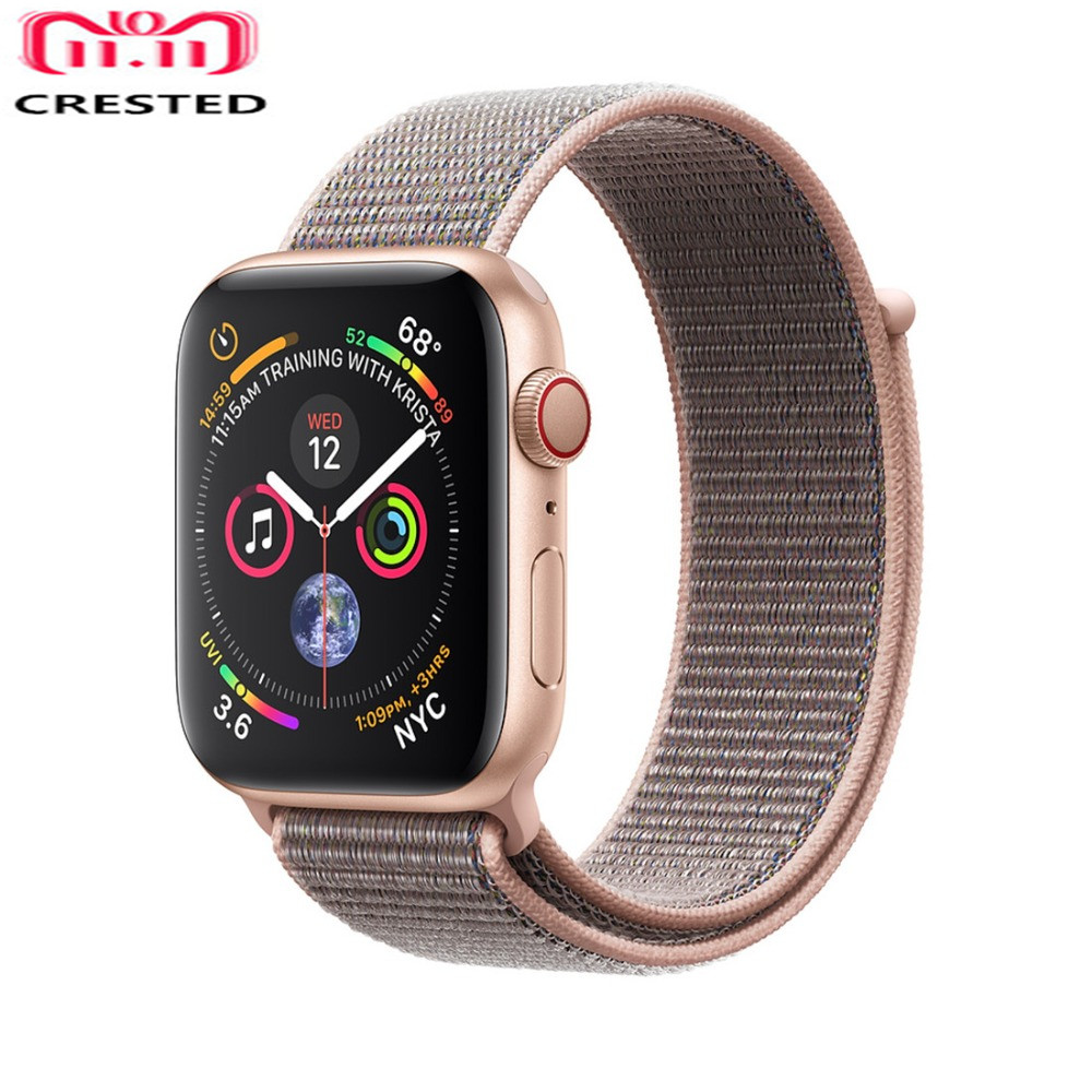 CRESTED sport loop for apple watch band 42mm 38mm iwatch 3 2 1 wrist band Bracelet Breathable Lightweight weave nylon loop strap new sport loop for apple watch band 42mm 38mm iwatch 4 3 2 1 watch strap bracelet breathable lightweight weave nylon loop strap