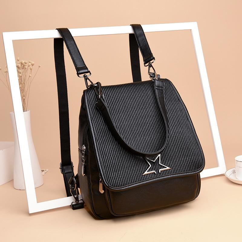 Чу JJ Для женщин из натуральной кожи рюкзак дамы Школа Рюкзак Сумка для Колледж простой дизайн девушки сумка