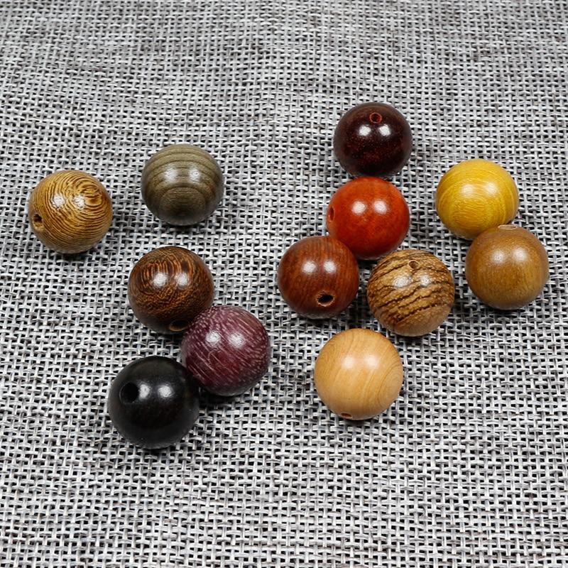 20 pçs/lote Rodada Contas De Madeira Naturais 6-20mm Sandalwood/Rosewood Padauk/Alta Qualidade De Madeira Spacer Beads DIY Jóias Fazendo Encontrar