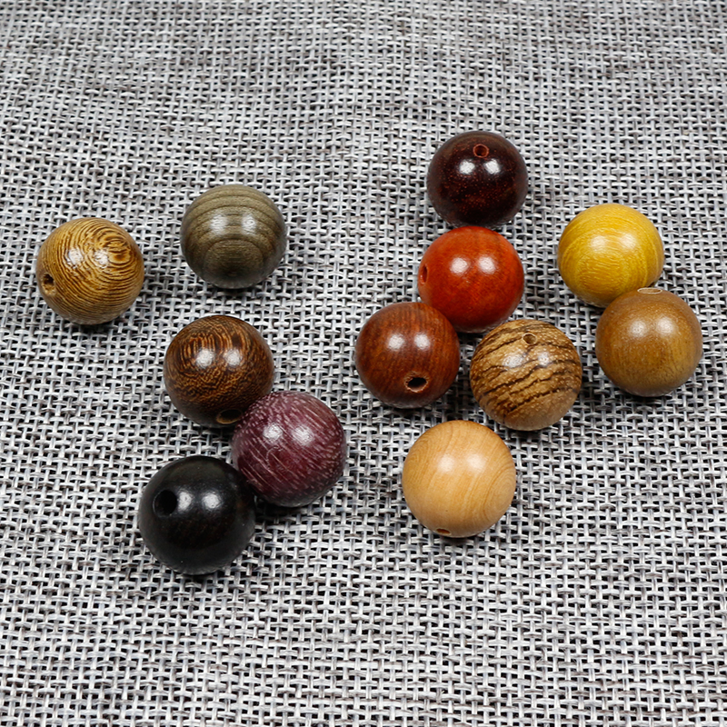 20pcs/lot Round Natural Wood Beads 6-20mm Sandalwood/Rosewood/Padauk High Quality Wooden Spacer Beads DIY Jewelry Making Finding