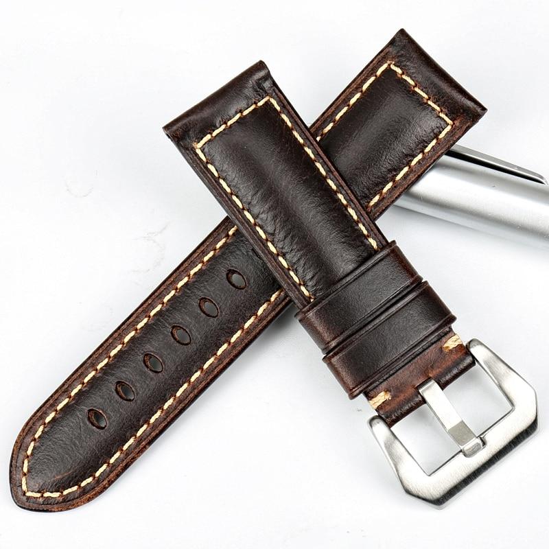 MAIKES pulseira de relógio marrom Do Vintage 22 23 24 26mm pulseira - Acessórios para relógios - Foto 3