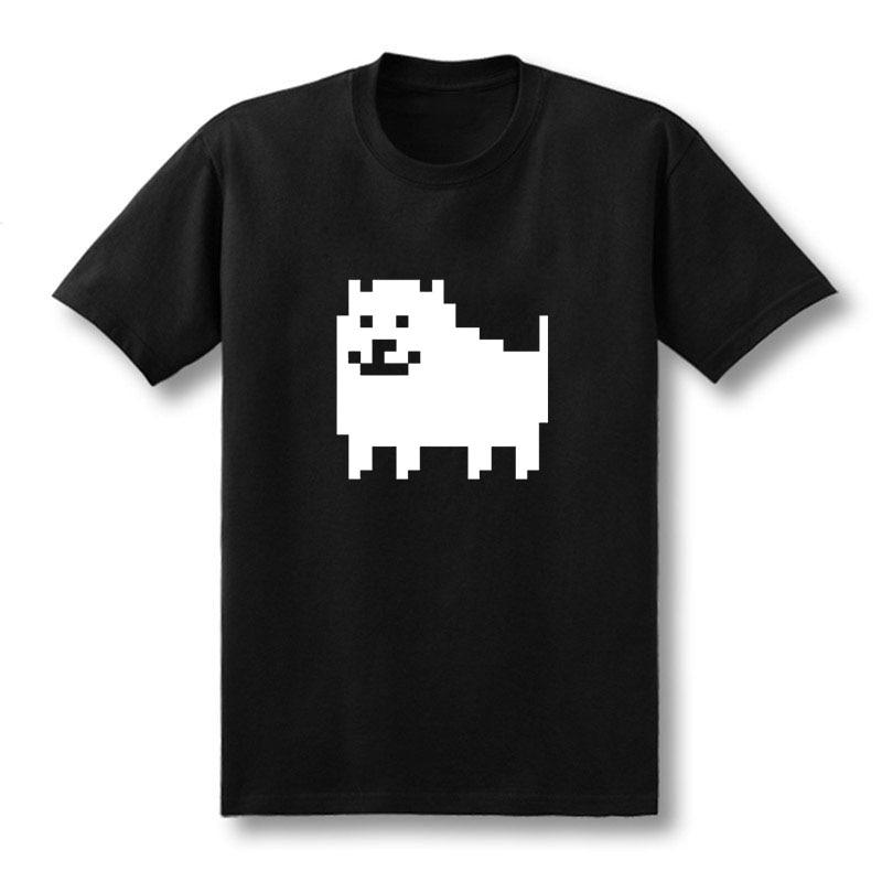 2018 HEIßE Männer Mode Spiel T Shirts Undertale Lästige Hund Gedruckt Anime Baumwollbeiläufiges Tees Kundengebundene Größe XS-XXL