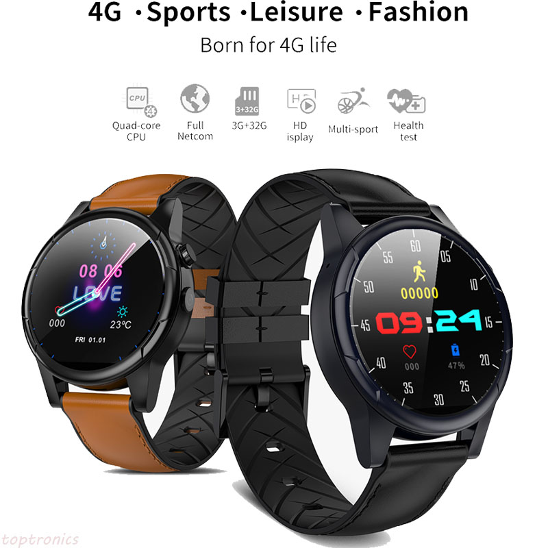 7065c6a2e37 Business Gift Smart Watch Android 7.1 4g Sim WIFI 1.6 inch 2MP Camera GPS  Heart Rate IP67 Waterproof smartwatch for Men Women