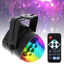 Colorful Sound Activated Rotating Disco Ball Party Lights  3W RGB LED Stage Light for Christmas Home KTV Xmas Wedding DJ Bar цены онлайн