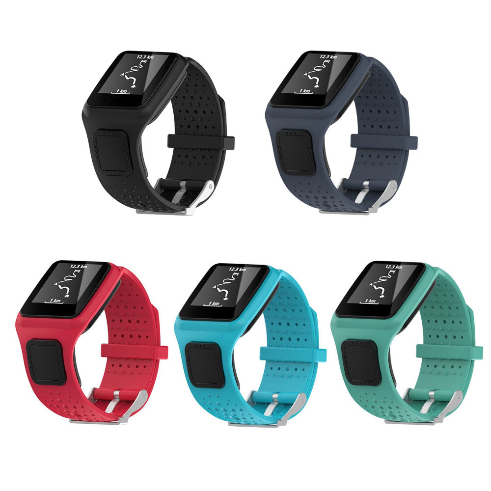 Square Silicone Watch Strap Band Rubber Bracelet Replacement For TomTom Runner 1 Series &TomTom Multi-Sport GPS Sport Watchbands