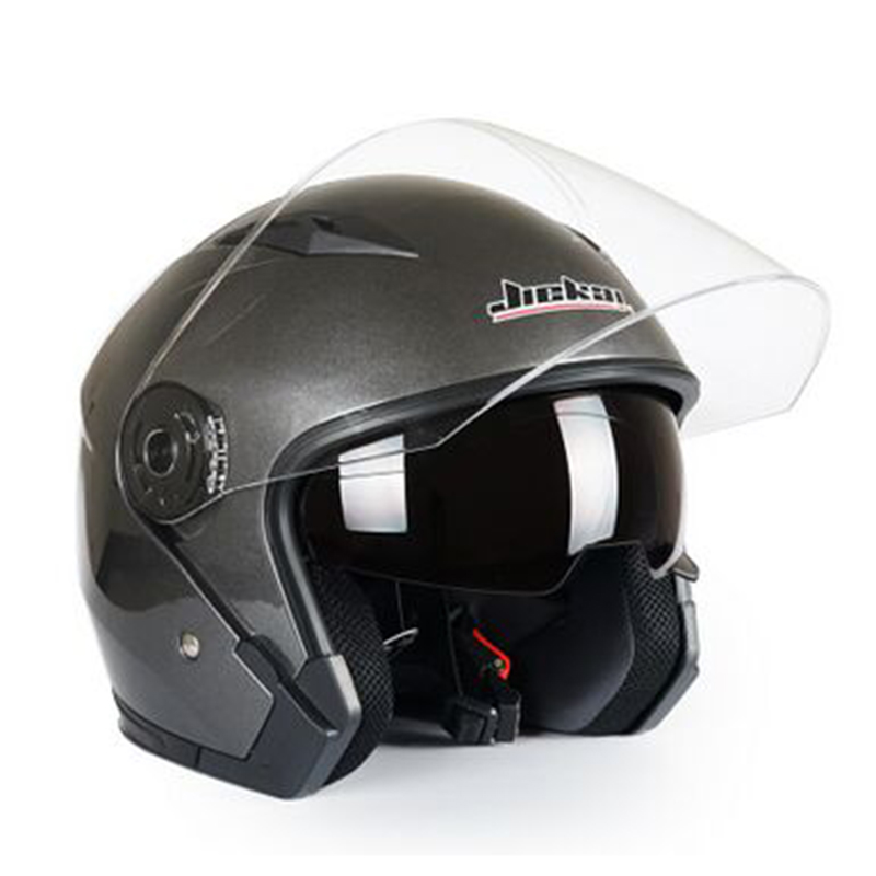 JIEKAI Motorcycle Helmets Electric Bicycle Helmet Open Face Dual Lens Visors Men Women Summer Scooter Motorbike