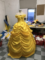 Fantasia Women Halloween Cosplay Southern Beauty And The Beast Adult Princess Belle Costume Yellow customized any size
