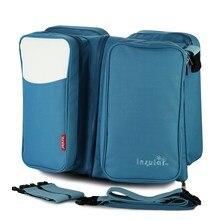 Мода большой емкости Многофункциональный комбинированный мама пакет для мамы сумка портативный складной детская кровать путешествия кроватки