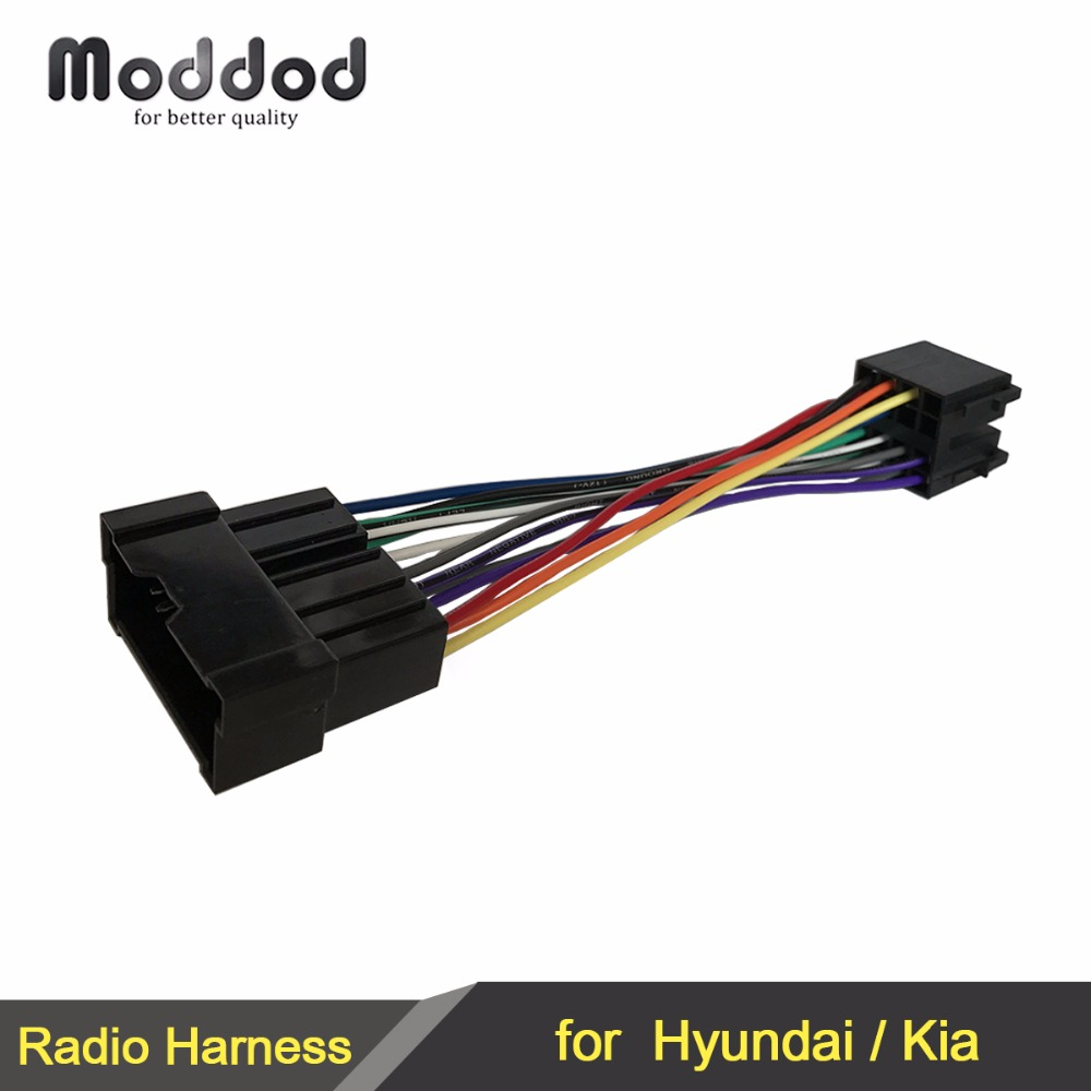 iso wiring harness adaptor for hyundai kia 1999 2005 stereo wire cable aftermarket radio plug [ 1000 x 1000 Pixel ]