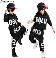 Fashion Children Jazz Dance Clothing Suit Boys Girls Street Dance Hip Hop Dance Costumes Teenage Kids