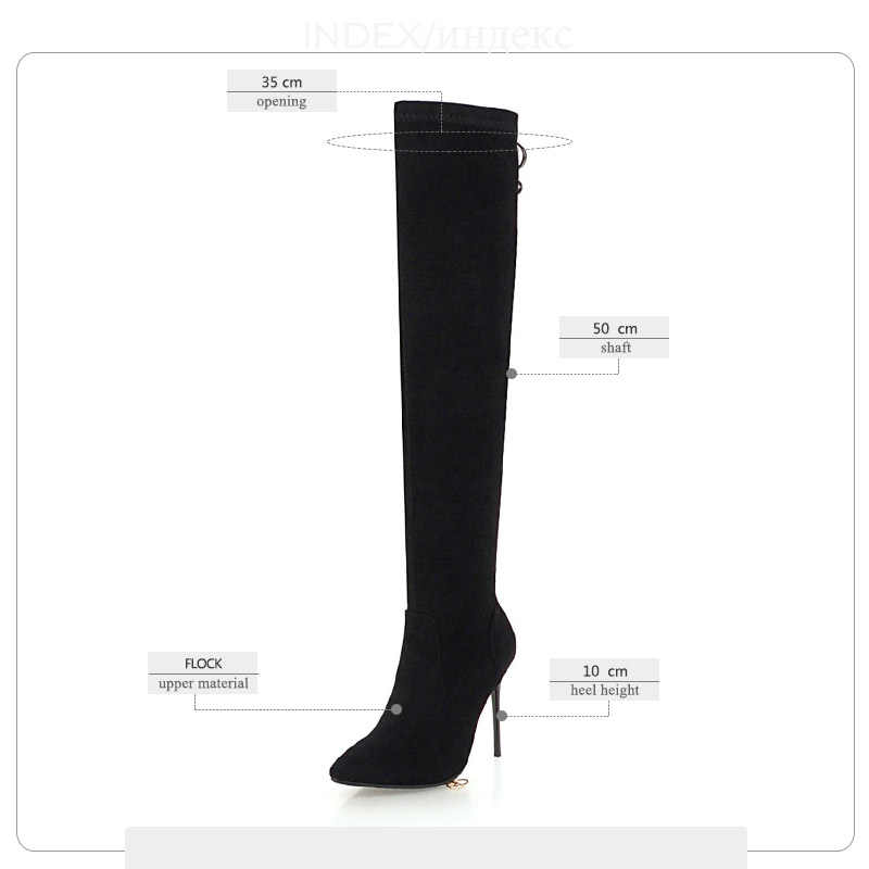 WETKISS Seksi Stiletto Topuklu Kadın Çizmeler Yuvarlak Ayak Akın Ayakkabı Kış Diz Kürk Kadın Çizme Zip Ayakkabı Kadın 2018 Yeni