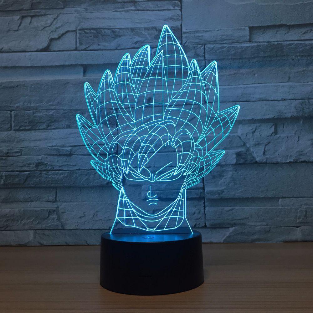 Cartoon Dragonball 3D LED Lamp Cool Boy Bedroom 3D Night